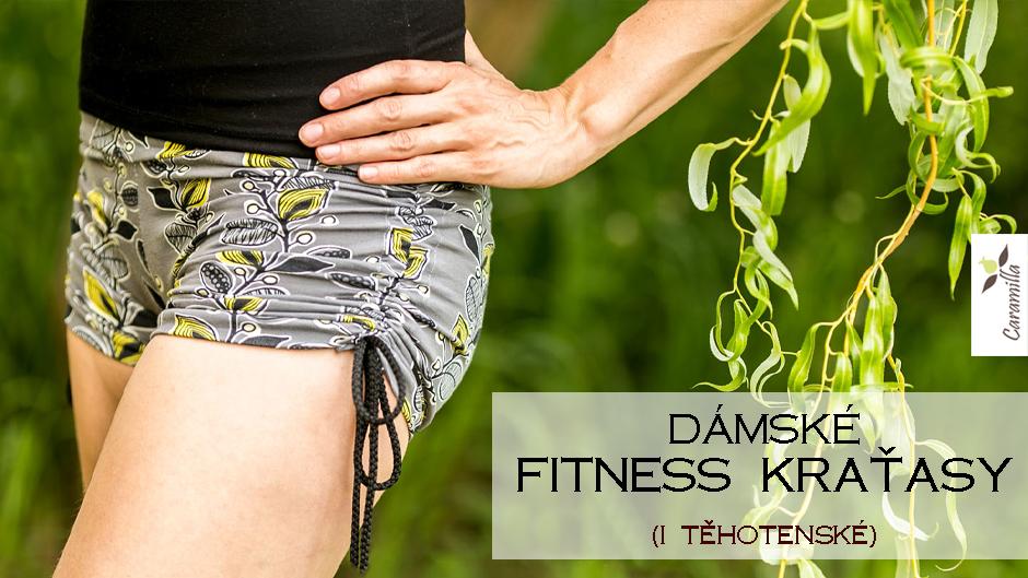 Dámské fitness kraťasy (i jako těhotenské) (střih a návod)