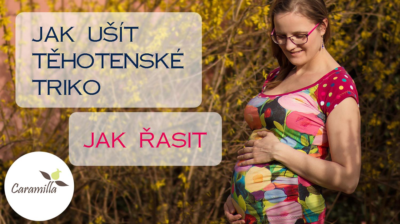 Videonávod: Jak ušít těhotenské triko / Jak řasit