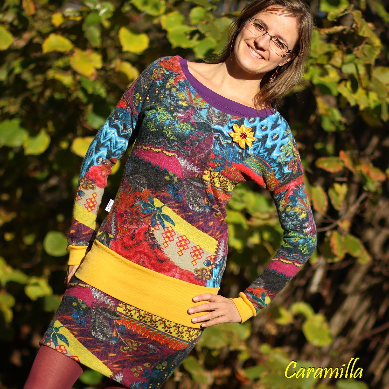 Teplé zimní dvoudílné šaty