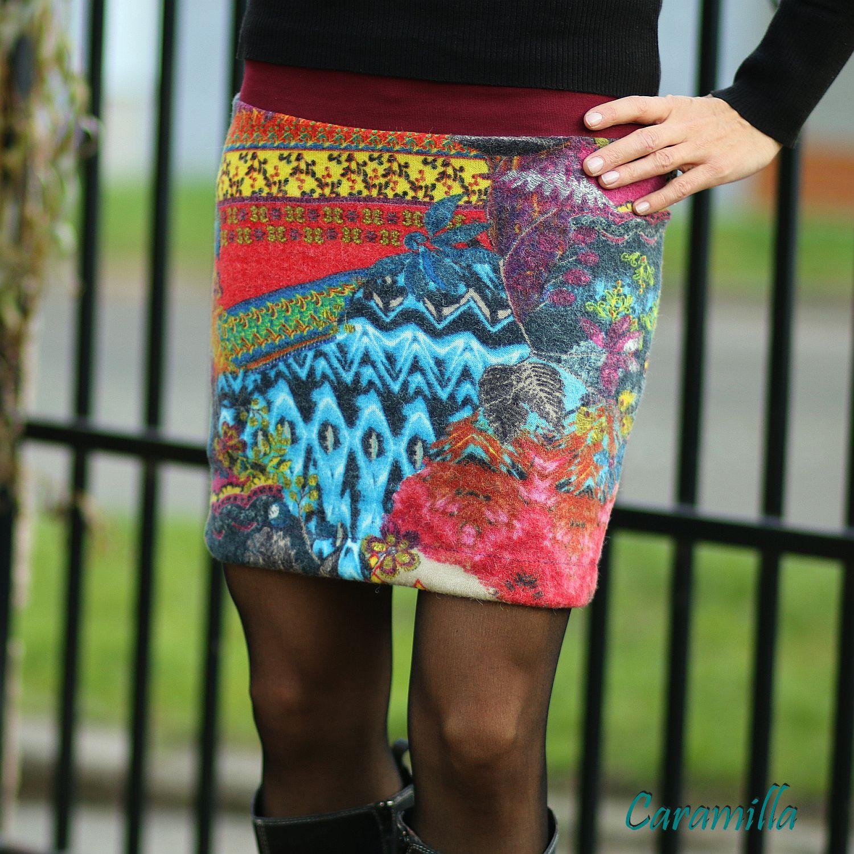 Teplé zimní sukně s příměsí vlny