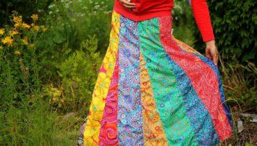 Letní kolekce nabíraných patchworkových sukní