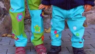 Veselé softshellové kalhoty