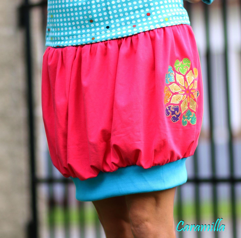 Balonová sukně s ruční malbou