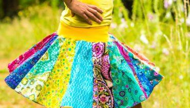 Kolová dílová sukně (střih a návod)