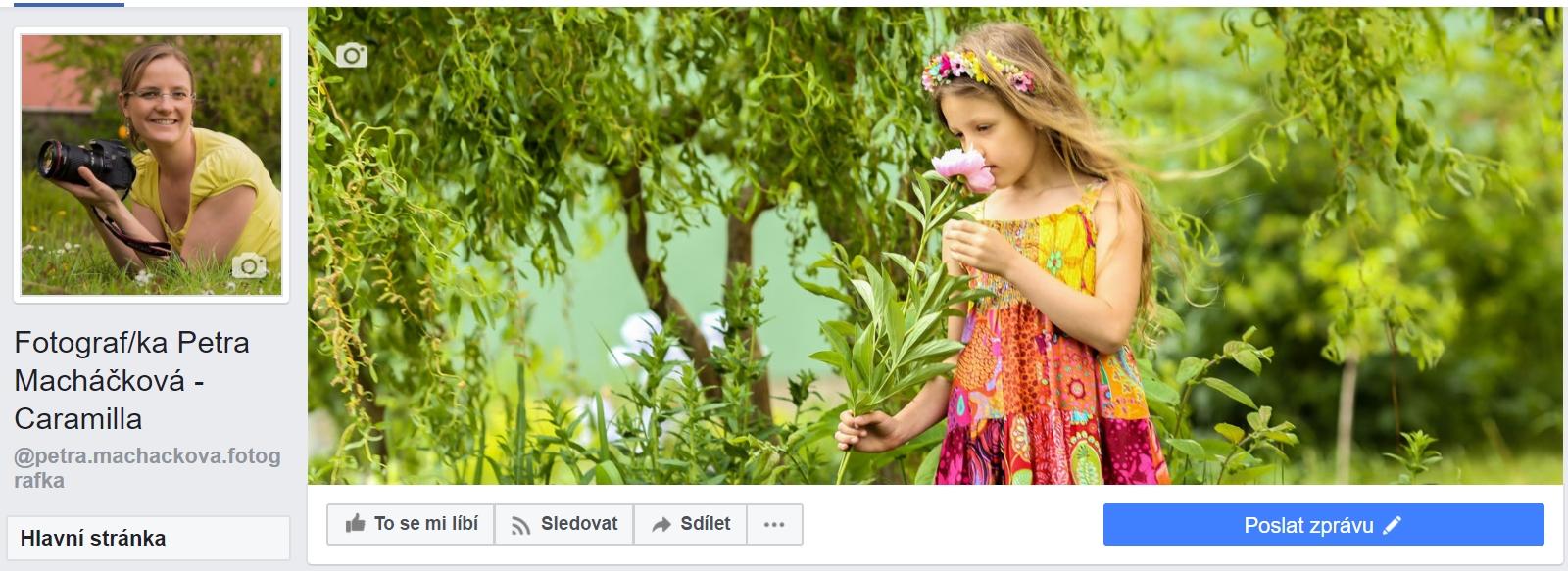 Stránka Fotograf/ka na Facebooku