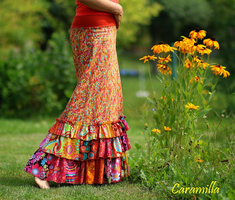 Dlouhé sukně s kanýry