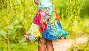 Patchworková sukně vlna