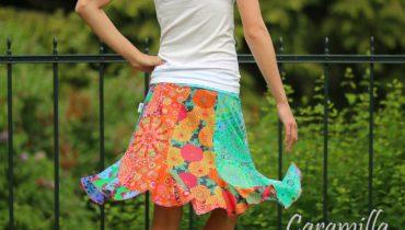 Patchworkové krátké sukně
