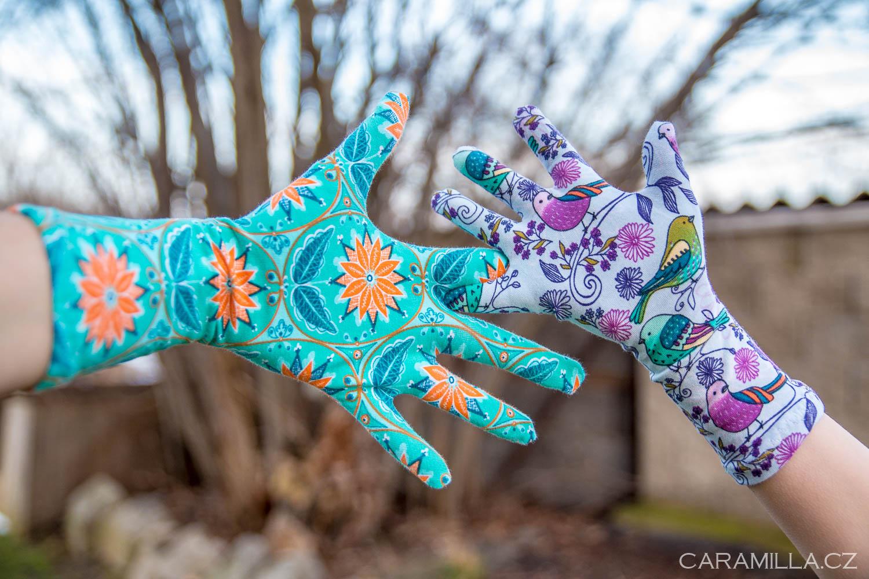 Jednoduché prstové rukavice (střih a návod)