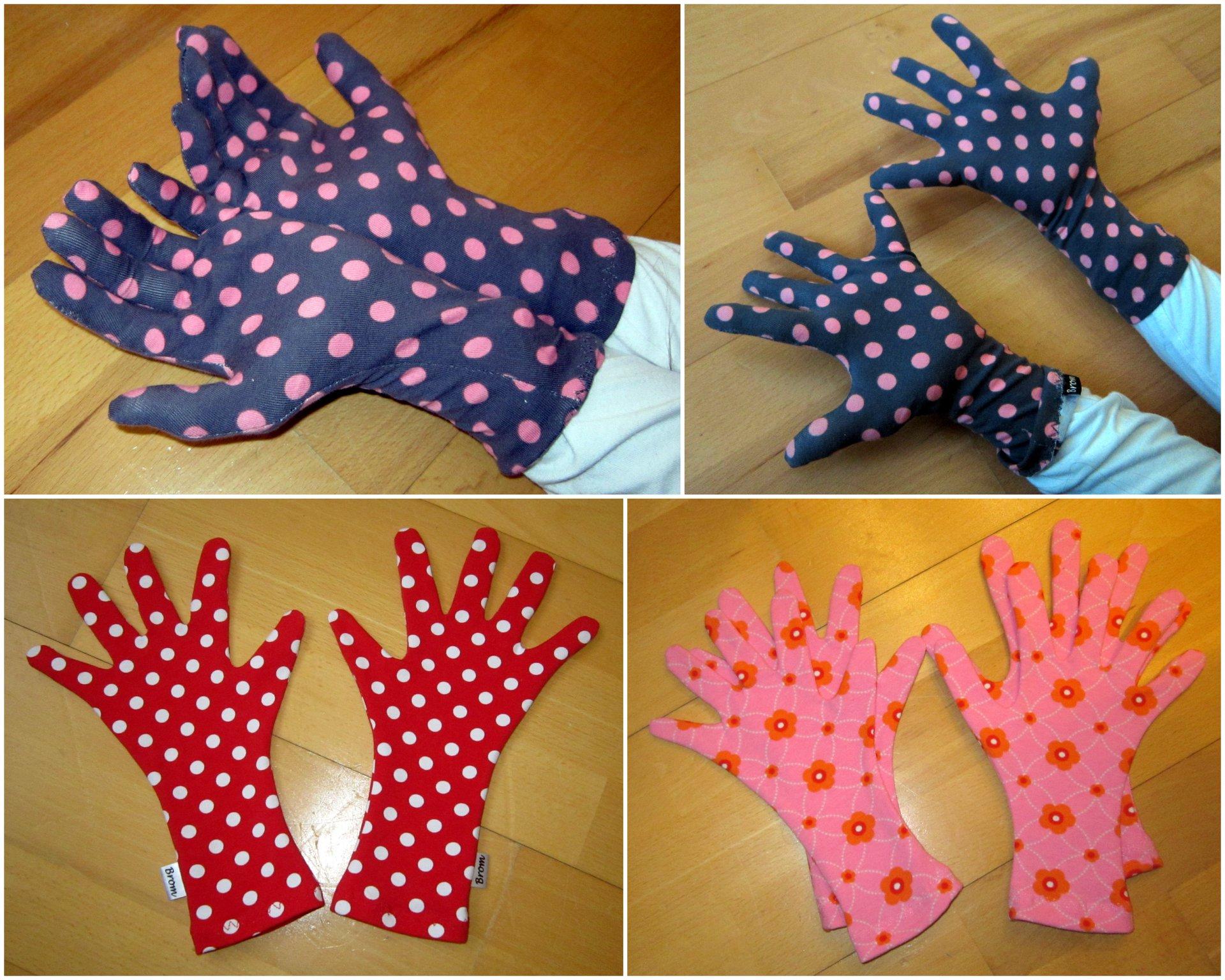 Prstové rukavice od Veroniky (plus zlepšovák, jak jednoduše je ušít)