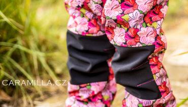 Softshellové kalhoty s nabíranými / tvarovanými koleny (střih a návod)