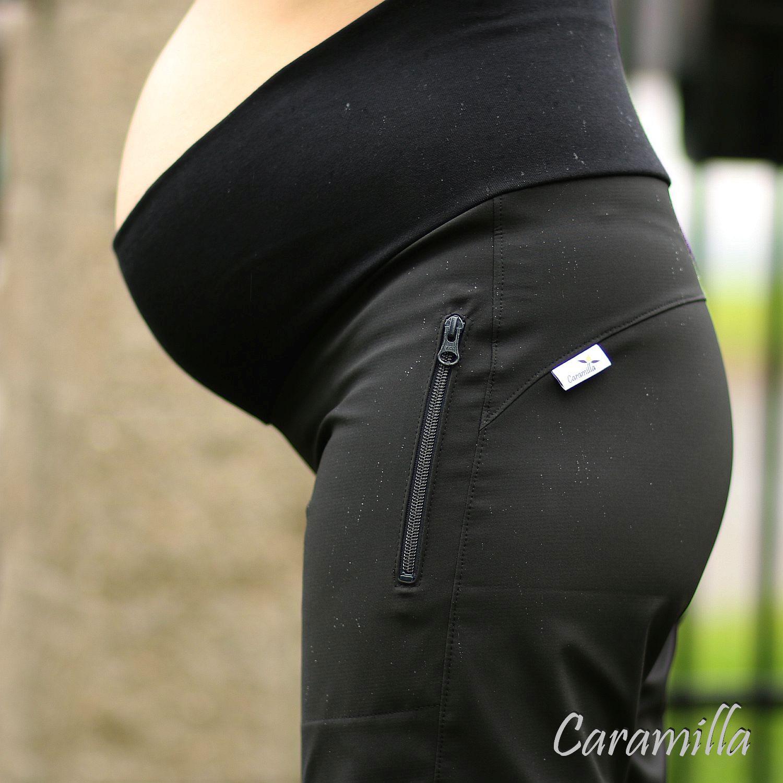 Letní softshellové těhotenské kalhoty