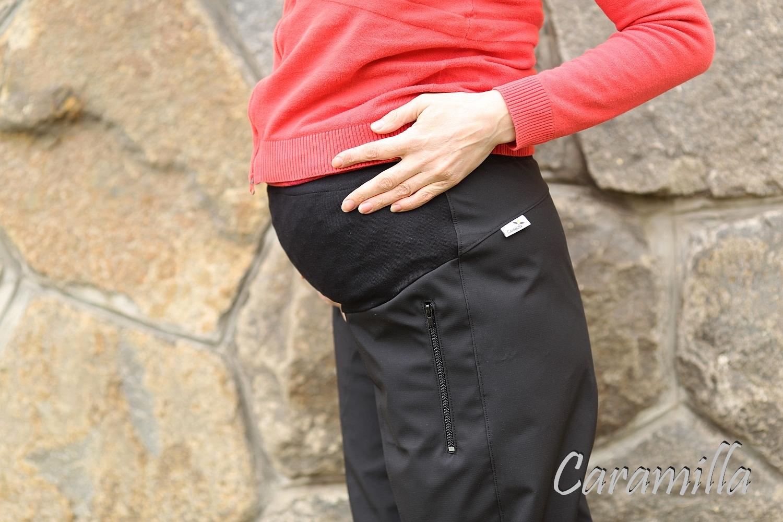 Těhotenské outdoorové kalhoty s membránou