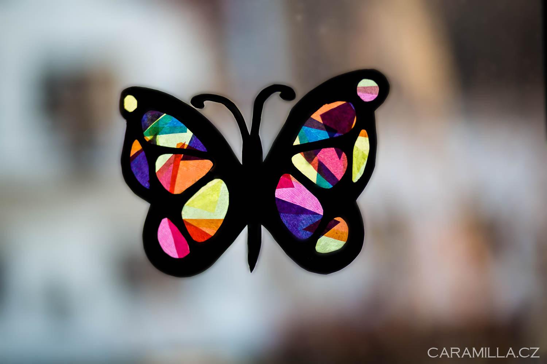 Vitrážový motýl