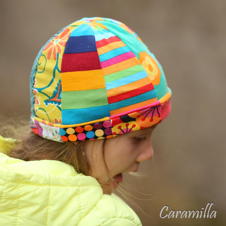 Oboustranná patchworková čepice ze 16ti dílů (střih)