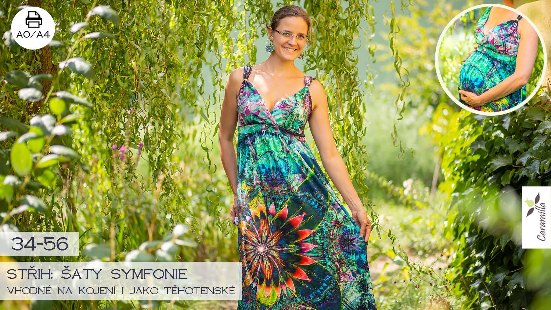 Šaty symfonie (vhodné též na kojení i pro těhotenství) – střih