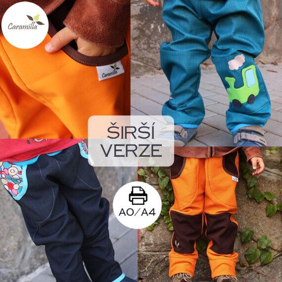 Soft kalhoty 98-170 sirsi