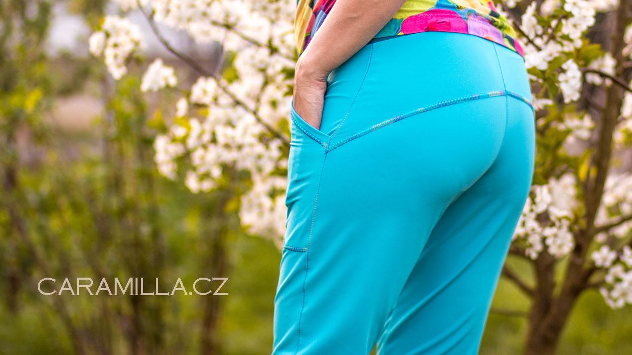 Sportovní pružné softshellové letní kalhoty