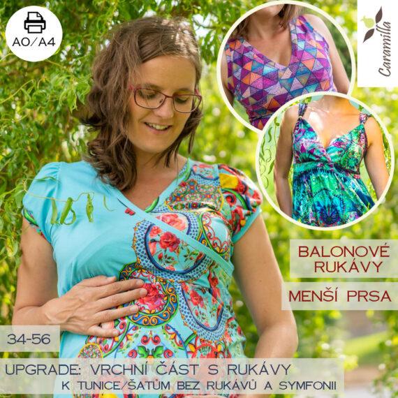 Tunika na kojeni s balonovymi rukavy UPGRADE_mensi prsa