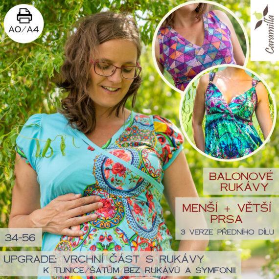 Tunika na kojeni s balonovymi rukavy UPGRADE_vetsu a mensi prsa
