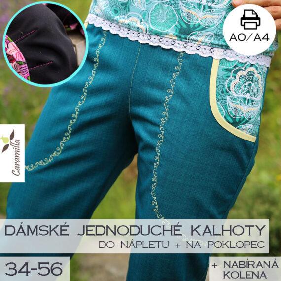 jednoduche softshllove kalhoty s koleny