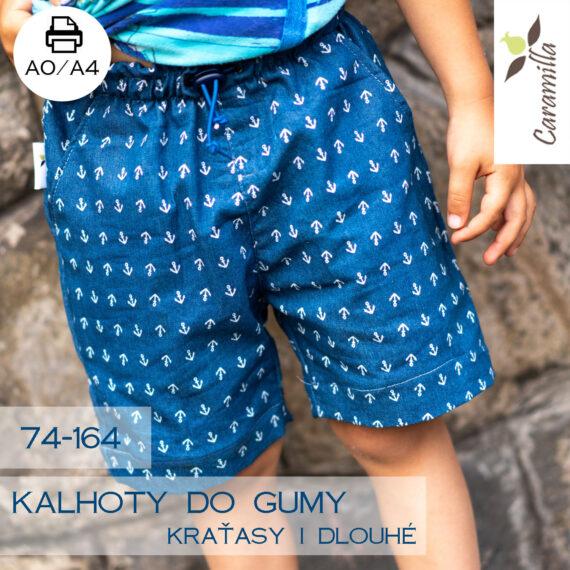 kalhoty do gumy kratke a dlouhe set 74-164