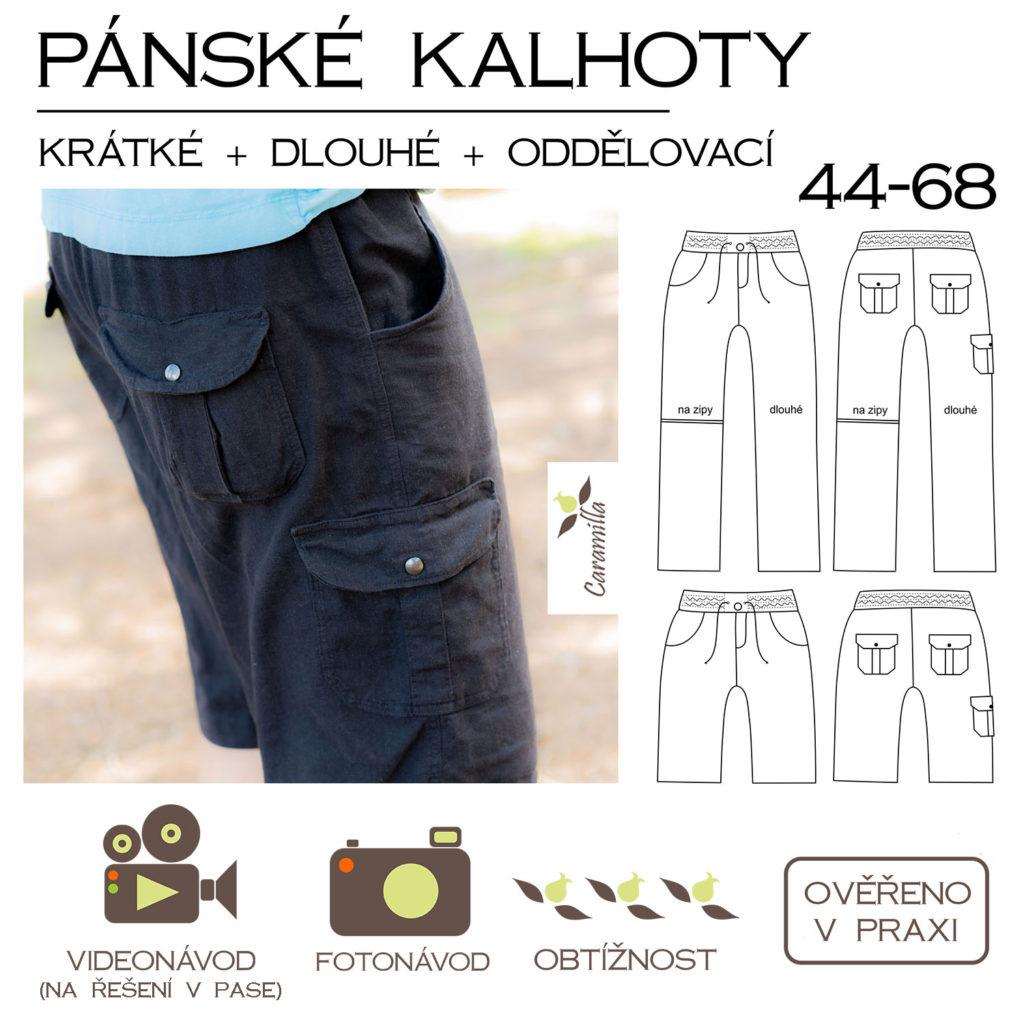 Střih na pánské kalhoty s kapsami ve velikostech 44 – 68. Střih obsahuje  verzi krátkých kalhot   bermud + střih pro prodloužení nohavic na dlouhé  kalhoty. e8977b5bcd