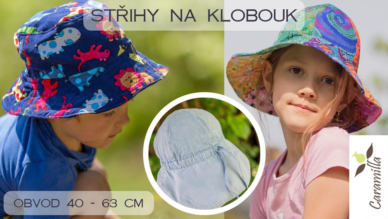 Střih na letní klobouk (obvod 40 – 63 cm)
