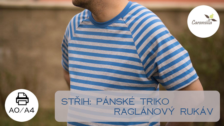 Pánské triko s raglánovým rukávem XS-XXXL (střih)