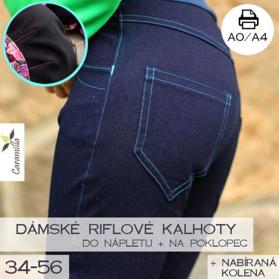 riflove softshllove kalhoty s koleny