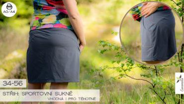 Sportovní sukně vhodná i pro těhotné (střih a návod) 34 – 56