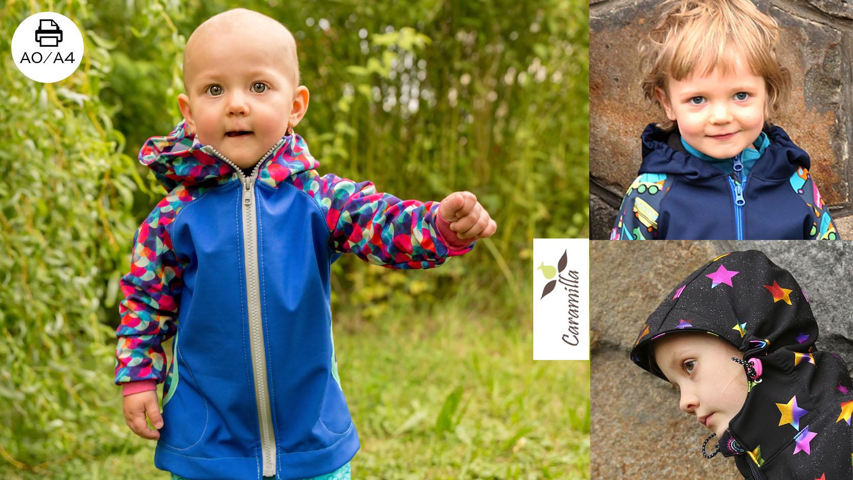 Softshellová bunda s raglánovým rukávem ve více variantách (od začátečníků po pokročilé) – střih 74 – 164