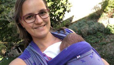 Recenze: Trojhránek do dekoltu při nošení miminka a víceúčelový šátek