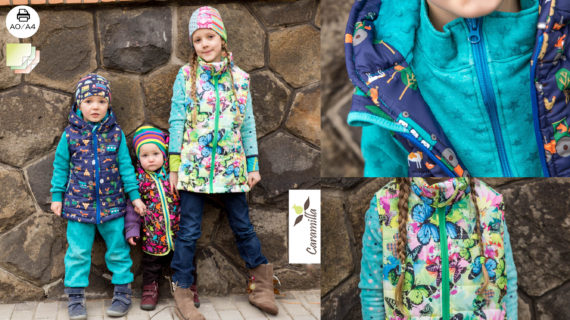 Střih na dětskou vestu nově i na A0 a barevně
