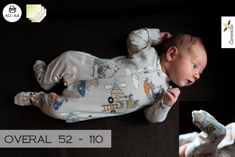 de44a582a2e Overal pro miminka a děti 52 – 110 (střih a návod) – Caramilla.cz