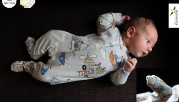 Overal pro miminka a děti 52 – 110 (střih a návod)