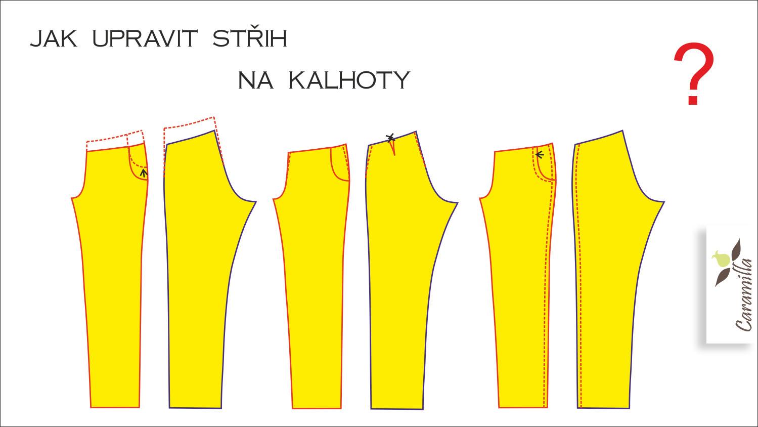 Úpravy střihů: kalhoty