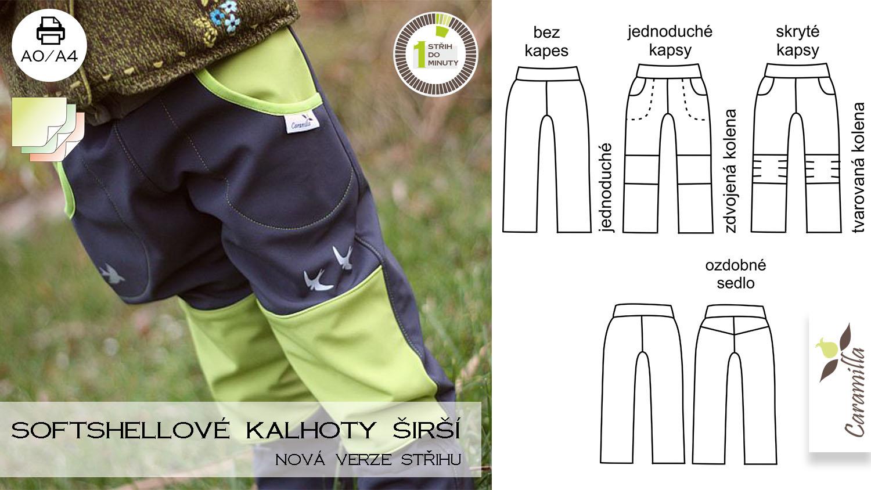 Nová verze střihu na (nejen) softshellové kalhoty ŠIRŠÍ