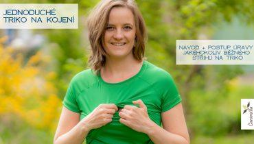 Jednoduché triko na kojení (návod a postup úpravy střihu)