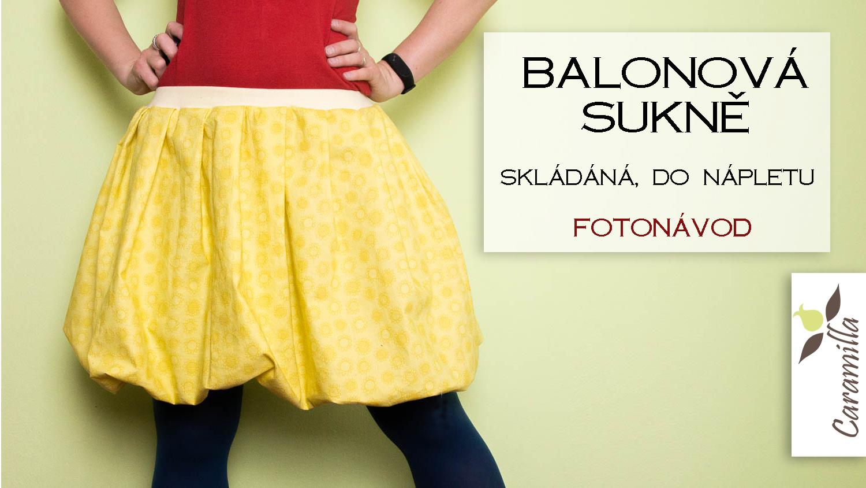 Balonová sukně skládaná (fotonávod)
