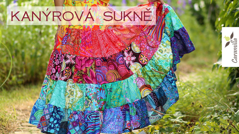 Jak ušít kanýrovou patchworkovou sukni / šaty