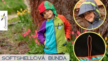 Softshellová bunda s kapucí s kšiltem, s podsádkami a stahováním (fotonávod)