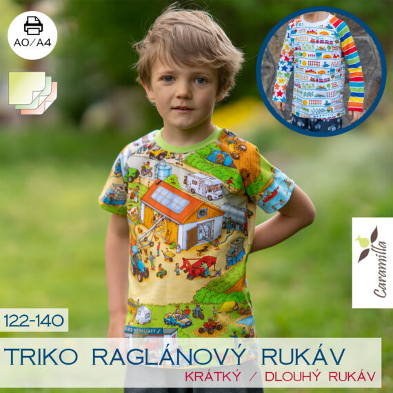 triko raglanovy rukav detske_122_140