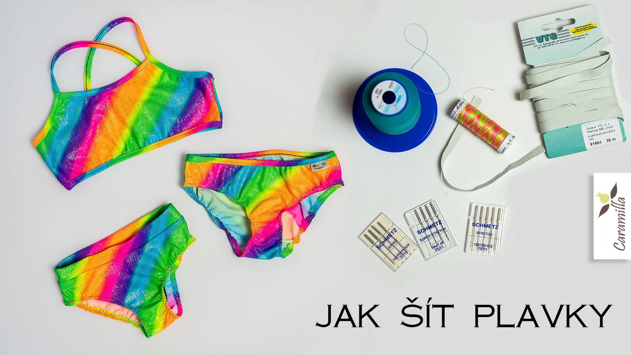 Jak šít plavky (střihy, materiály, komponenty, stehy)
