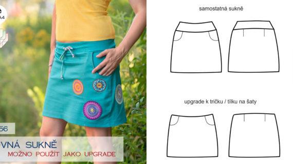 Rovná sukně (střih, upgrade, návod)