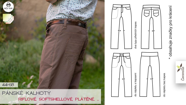 Pánské kalhoty (riflové, softshellové a jiné)