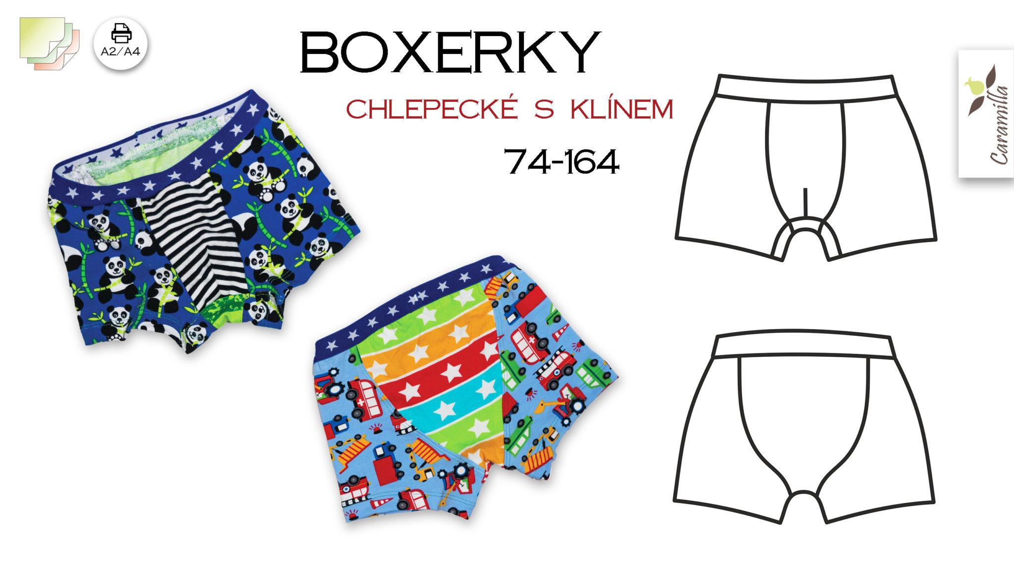 Chlapecké boxerky s klínem