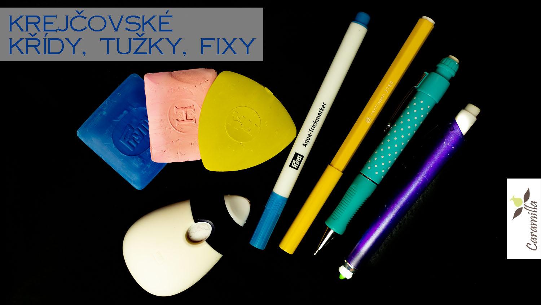 Krejčovské křídy, tužky, fixy, rádla