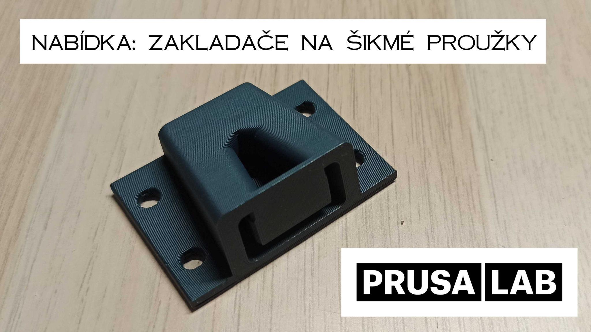 Nabídka zakladačů na šikmý proužek z 3D tiskáren PrusaLab