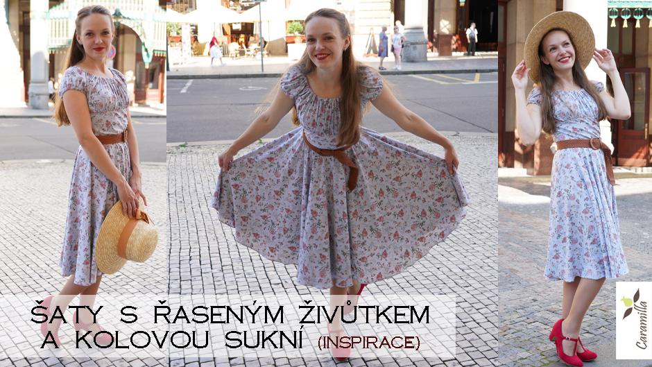 Šaty s řaseným živůtkem a kolovou sukní (Inspirace)